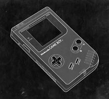 Distressed Nintendo Gameboy in Black and White by ChristineWilson