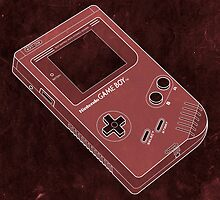 Distressed Gameboy in Red by ChristineWilson