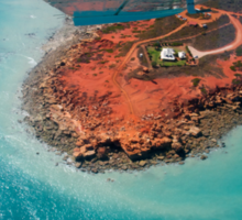Flying over Gantheaume Point, Broome Sticker