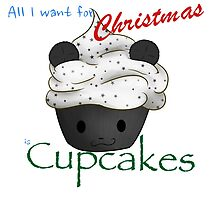 All I Want for Christmas is CUPCAKES [Panda]  by AngaelWing