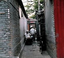 Hutongs, Beijing. by Colin Peters