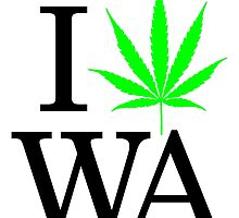 I Heart WA - Legalized Marijuana Logo by andabelart