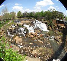 Fisheye at Falls Park by jelemeno