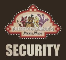 Five Nights at Freddy's Freddy Fazbear's Security Logo by Kaiserin
