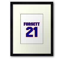 National football player Justin Forsett jersey 21 Framed Print