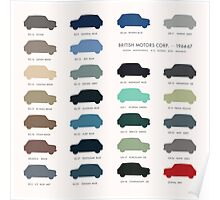 Austin Mini classic - 60's original colours  Poster