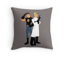 Dr Horrible - White Throw Pillow
