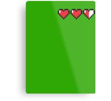 8-Bit Hearts - Legend of Zelda Metal Print