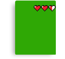 8-Bit Hearts - Legend of Zelda Canvas Print
