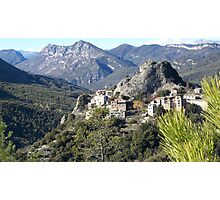 Village on the top of the mountain Photographic Print