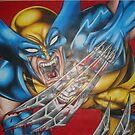 Wolverine VS Omega Red by eddiehollomon