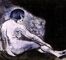 Waiting (for her lover by the flicker of the flame's light.) by Steven Torrisi