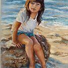 Alicia on the beach by Norah Jones