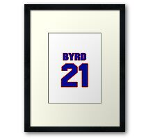 National football player Boris Byrd jersey 21 Framed Print