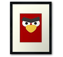 Minimalist Angry Birds - Red Bird Framed Print