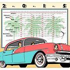 2015 Giant Poster Calendar: Vintage '56 Pontiac Star Chief by Michel Godts