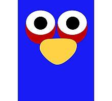 Minimalist Angry Birds - Blue Bird Photographic Print