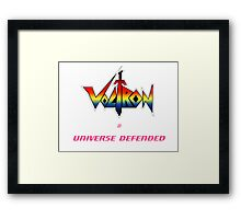 Voltron - Defender of the Universe Framed Print