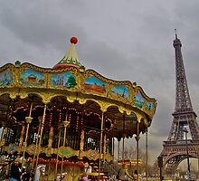 The merry-go-round and the tower by Ashley Ng
