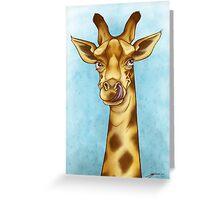 Silly Giraffe Greeting Card