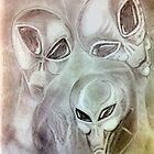 alien greys (pencils) by gabriel6