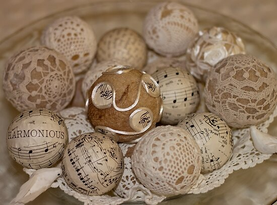 Spheres In Bowl  by Sandra Foster