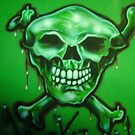t shirt skull by Airbrushr  Rick Shores