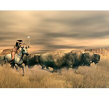 Buffalo Hunter Photographic Print