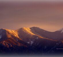 Distant Mountain at Dusk by Charmiene Maxwell-batten