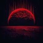 Lost Home! Colosal Future Sci-Fi Deep Space Scene in diabolic Red by badbugs