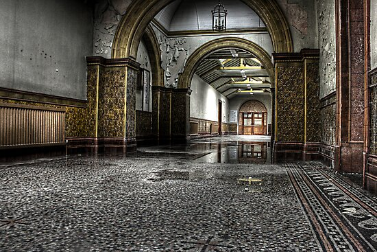 Tiled corridor by Richard Shepherd