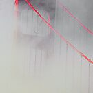 Tower of the Golden Gate Fogged in. by Nancy Stafford