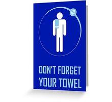 Towel Greeting Card