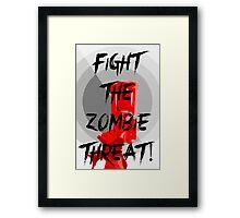 Anti-Zombie Propaganda Framed Print