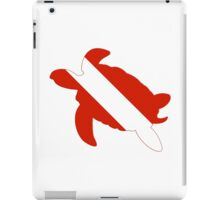 Sea Turtle Scuba Diver Silhouette iPad Case/Skin