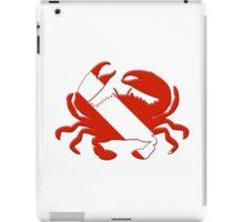 Crab Scuba Diver Silhouette iPad Case/Skin