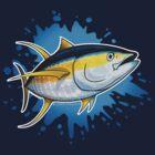 Yellowfin Tuna Splash by David Pearce