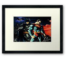 Superman VS Batman   Framed Print