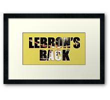 LeBron's Back Framed Print