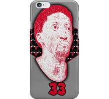 Scottie Pippen #33 iPhone Case/Skin