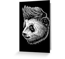 funky panda Greeting Card