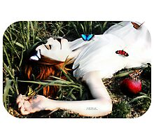 She Ate The apple Photographic Print