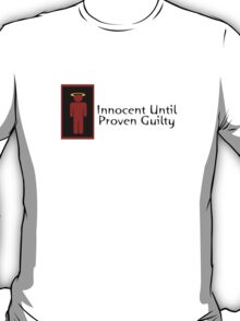 Innocent Until Proven Guilty Teenage Boy T-Shirt