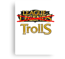 League of Trolls Canvas Print