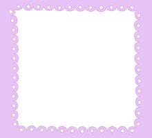 Lolita Lavender Kawaii Border by MLPDarkAngel