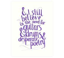 Frank Turner - I Still Believe Art Print