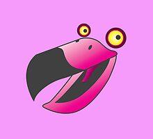 Cute pink beaker bird by jazzydevil