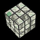 rubix cube dollar by JoshNorthrup