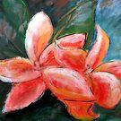 Fragipani Original Acrylic Painting by lily pang