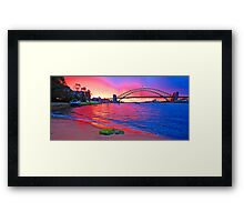 Right Place Right Time -Revisted , Sydney Harbour, Australia Framed Print